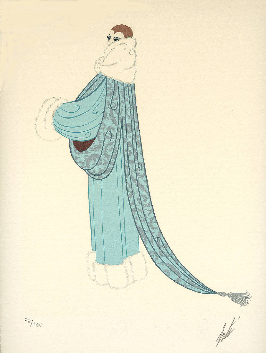 Ert the russian who captured art deco in fashion designs for Art deco trend
