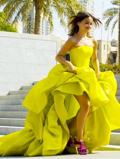 miroslava duma yellow dress