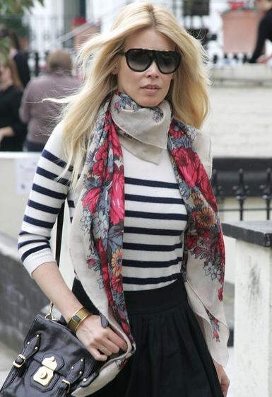 Claudia Schiffer scarf