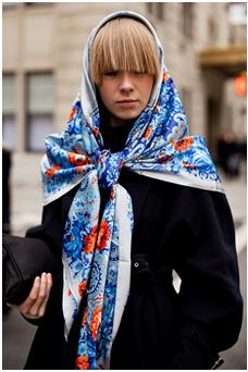 vika gazinskaya russian scarf