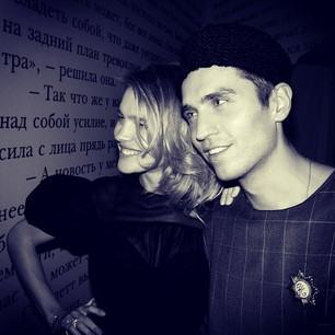 Natalia Vodyanova and Frol Burimov