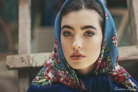 square scarf babushka style comtesse sofia paris