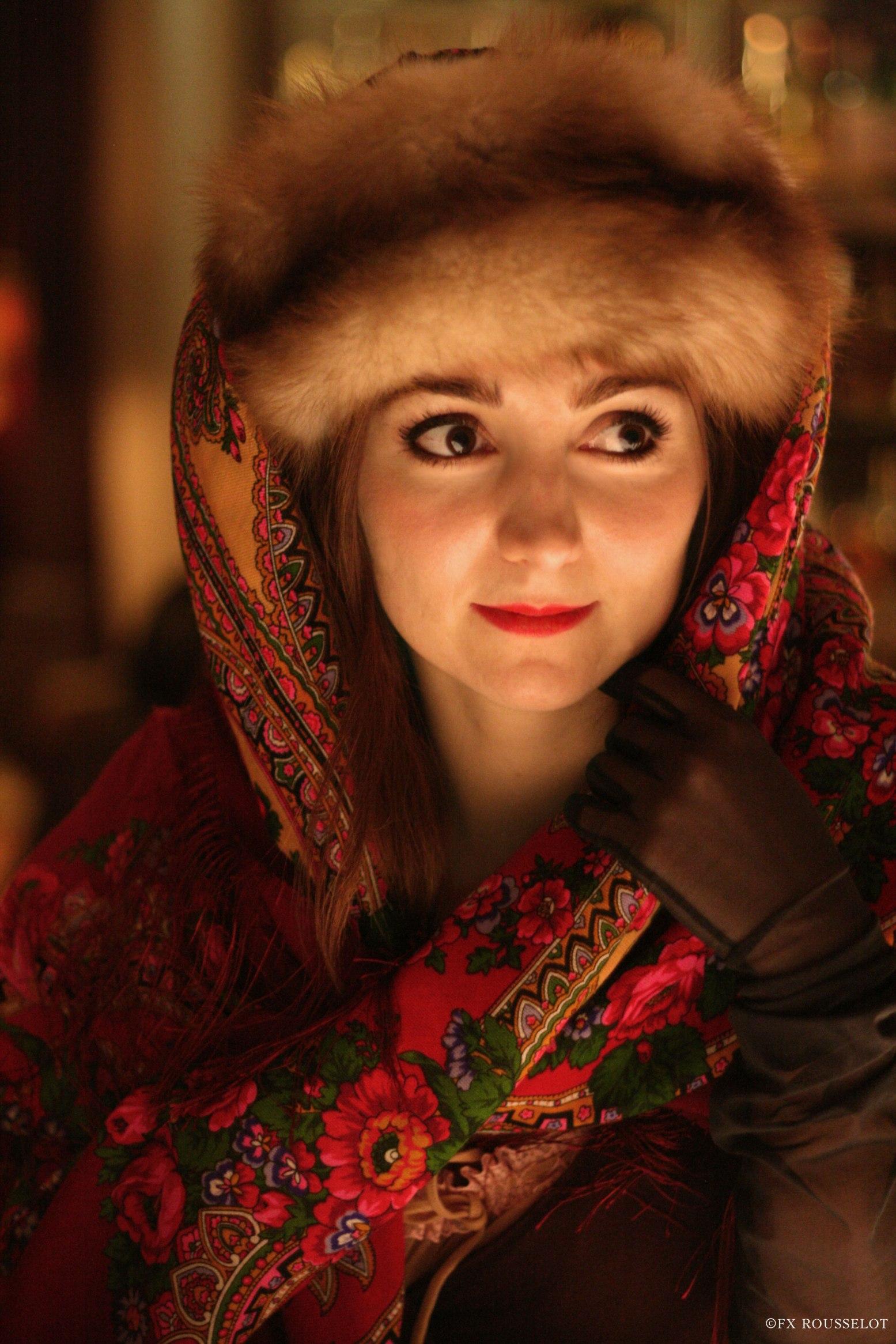 Sucre d'orge Lara Zhivago style Comtesse Sofia scarves